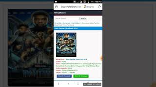How to download black panther movie in Hindi 480p