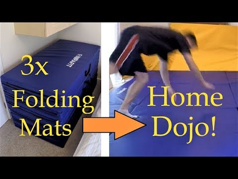 Home Jiu-Jitsu Mat Area - Using Gymnastics Mats! (Size 12' X 8' Or 3.6m X 2.4m)
