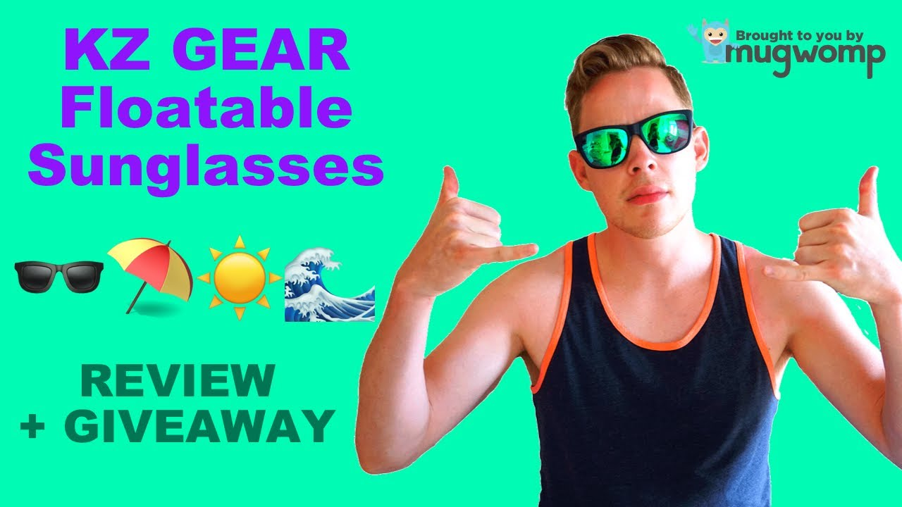 3a996dc760 KZ Gear Floating Sunglasses Review - YouTube