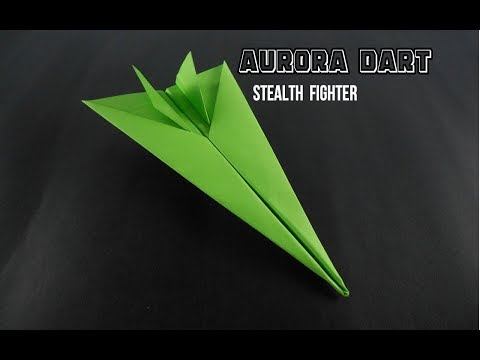 How To Make Paper Airplane - Easy Paper plane Origami Jet Fighter For Kids | Aurora Dart