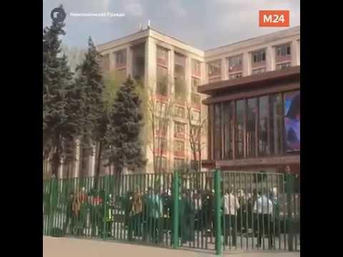 Горит РГУ нефти и газа им. Губкина  - Москва 24
