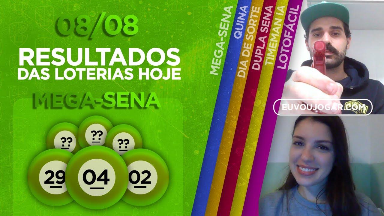 🔴 LIVE: RESULTADO DA MEGA-SENA 2287   LOTOFÁCIL 2006   TIMEMANIA 1521 e mais - 08/08