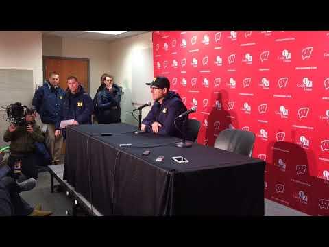 Jim Harbaugh on Brandon Peters' injury, Wisconsin loss