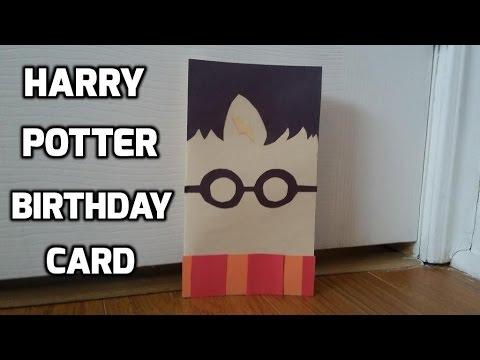 DIY Harry Potter birthday card YouTube
