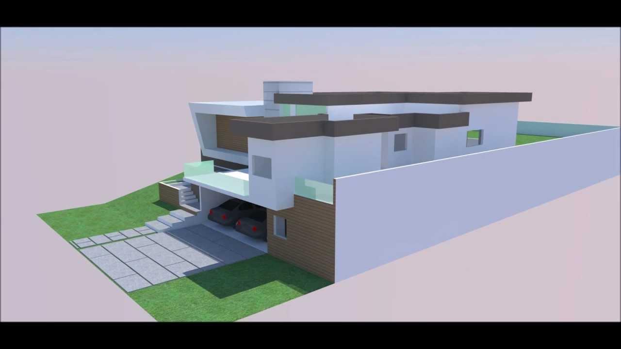 Maquete eletronica casa moderna youtube for Casa moderna 6 mirote y blancana