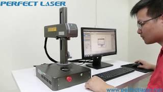 Perfect Laser Desktop Small Laser Etching Machine Demonstrating Video