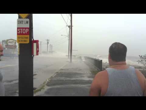 Hurricane Irene hits West Haven, Conn.