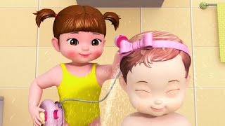 Video Kongsuni and Friends | Bath Time Song |  HD | English Full Episode | Cartoons For Children download MP3, 3GP, MP4, WEBM, AVI, FLV Desember 2018