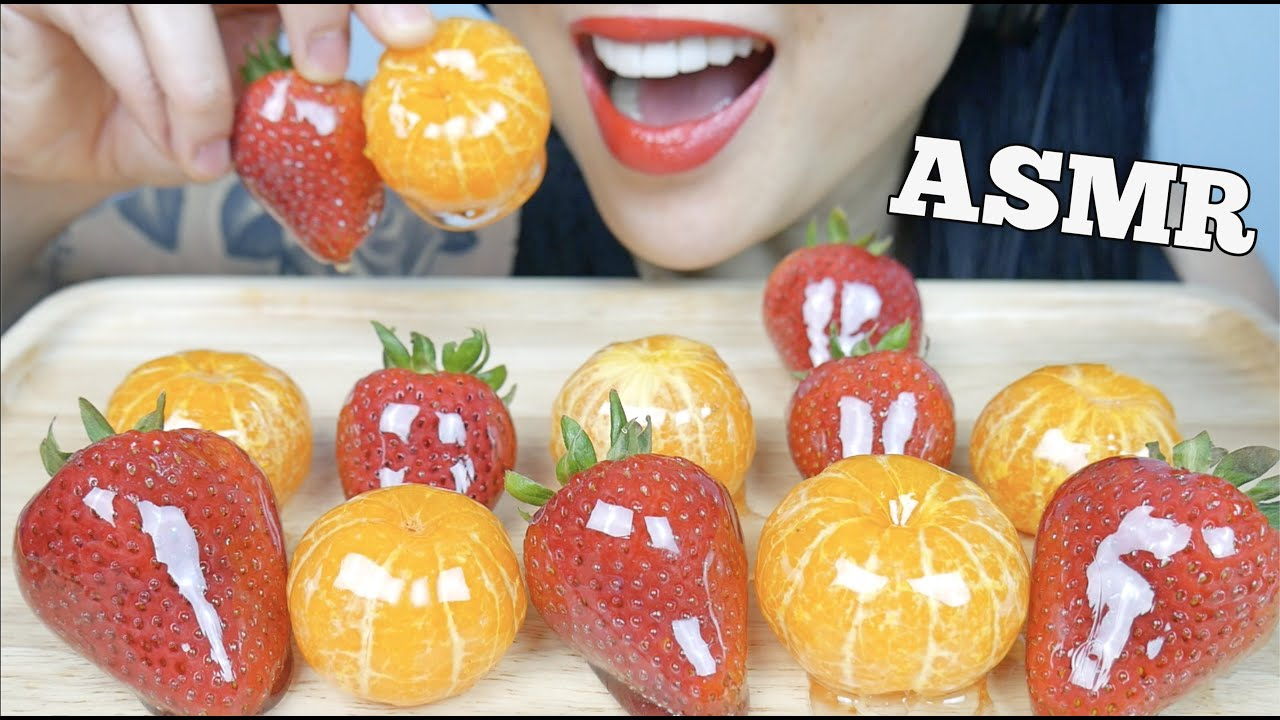 Asmr Candied Fruits Tanghulu Tangerine Strawberry Crackling Eating Sounds No Talking Sas Asmr Youtube Asmr (autonomous sensory meridian response) is a euphoric experience identified by a tingling sensation that triggers positive feelings, relaxation and focus. asmr candied fruits tanghulu tangerine strawberry crackling eating sounds no talking sas asmr