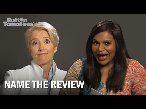 """Late Night's Emma Thompson and Mindy Kaling Play """"Name the Review"""" 