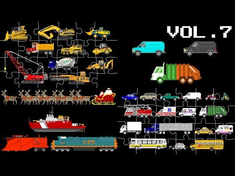 Vehicles Collection Volume 7 - Street Vehicles, Puzzles & Patterns - The Kids' Picture Show