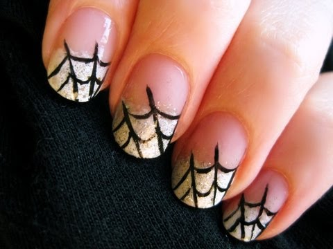 Spider Web Nail Art - Spider Web Nail Art - YouTube