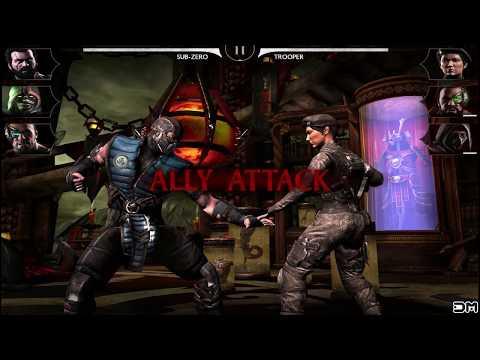 Mortal Kombat X Mobile Sub Zero X-RAY Special Move