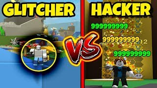 GLITCHER vs HACKER | Bee Swarm Simulator Version (Roblox)