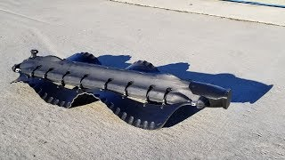 Amphibious Velox robot uses undulating fins to swim and crawl
