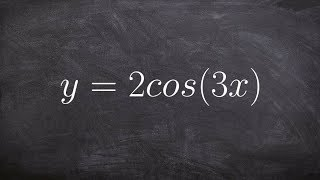 Pre-Calculus - How To Determine The Period And Amplitude Of A Trigonometric Graph 2, Y = 2cos(3x)
