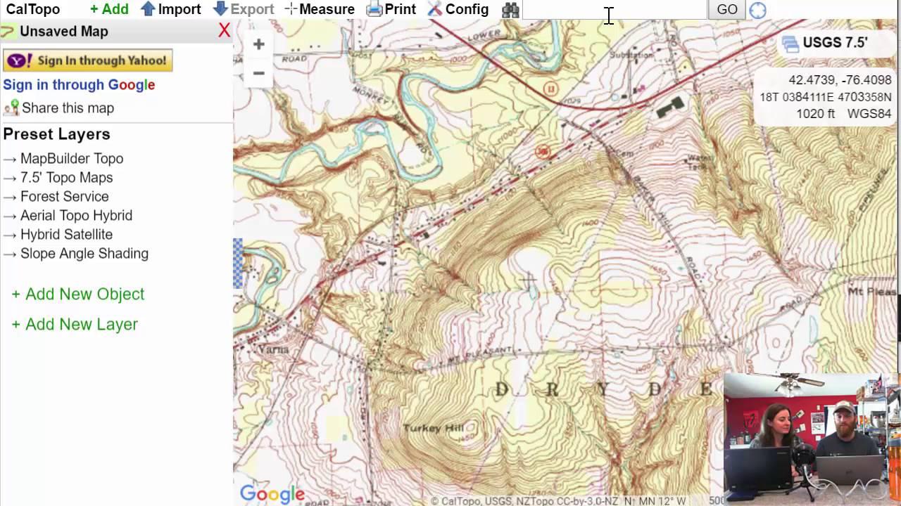 Caltopo Maps on