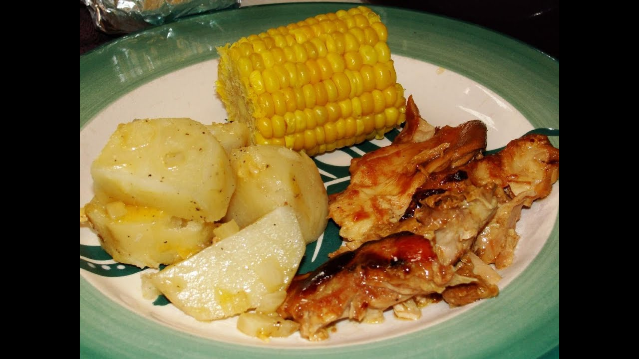 Complete bbq chicken dinner in the slow cooker youtube ccuart Choice Image