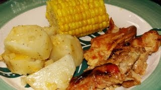 Complete Bbq Chicken Dinner In The Slow Cooker