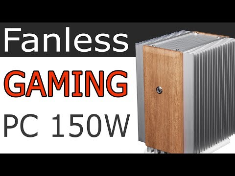 Luxury Fanless Gaming PC | silent SFF case | GTX 1050 Ti passive cooling