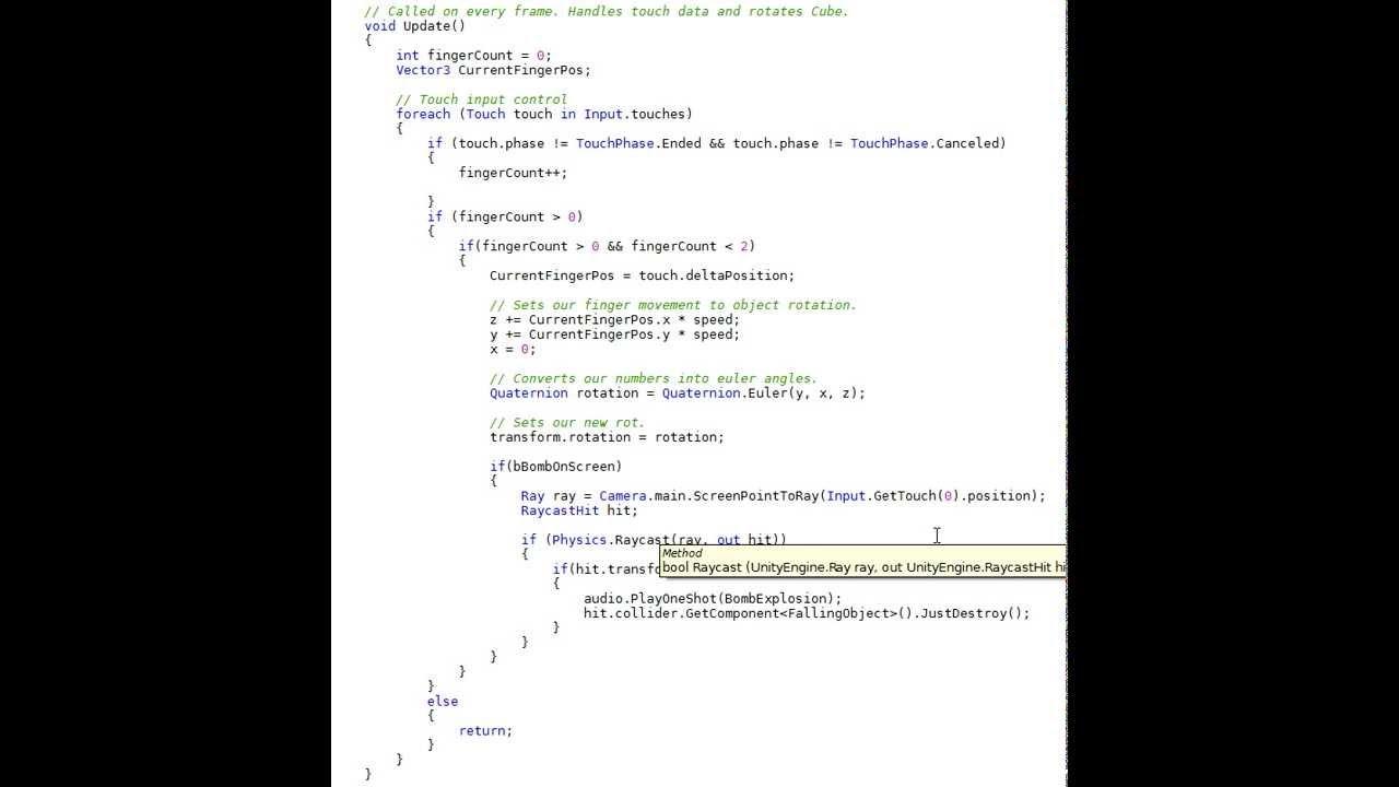 Portfolio Example - Unity Basic Touch Interface