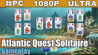 Atlantic Quest Solitaire gameplay HD [PC - 1080p] - Card Game