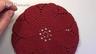 Берет крючком  Ч2  beret knitted