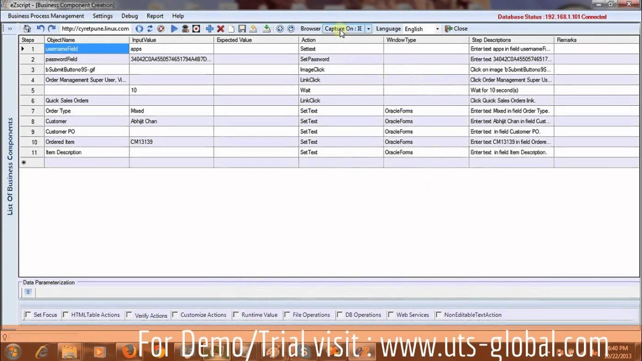 Oracle Forms Test Automation by TestMagic eZscript™