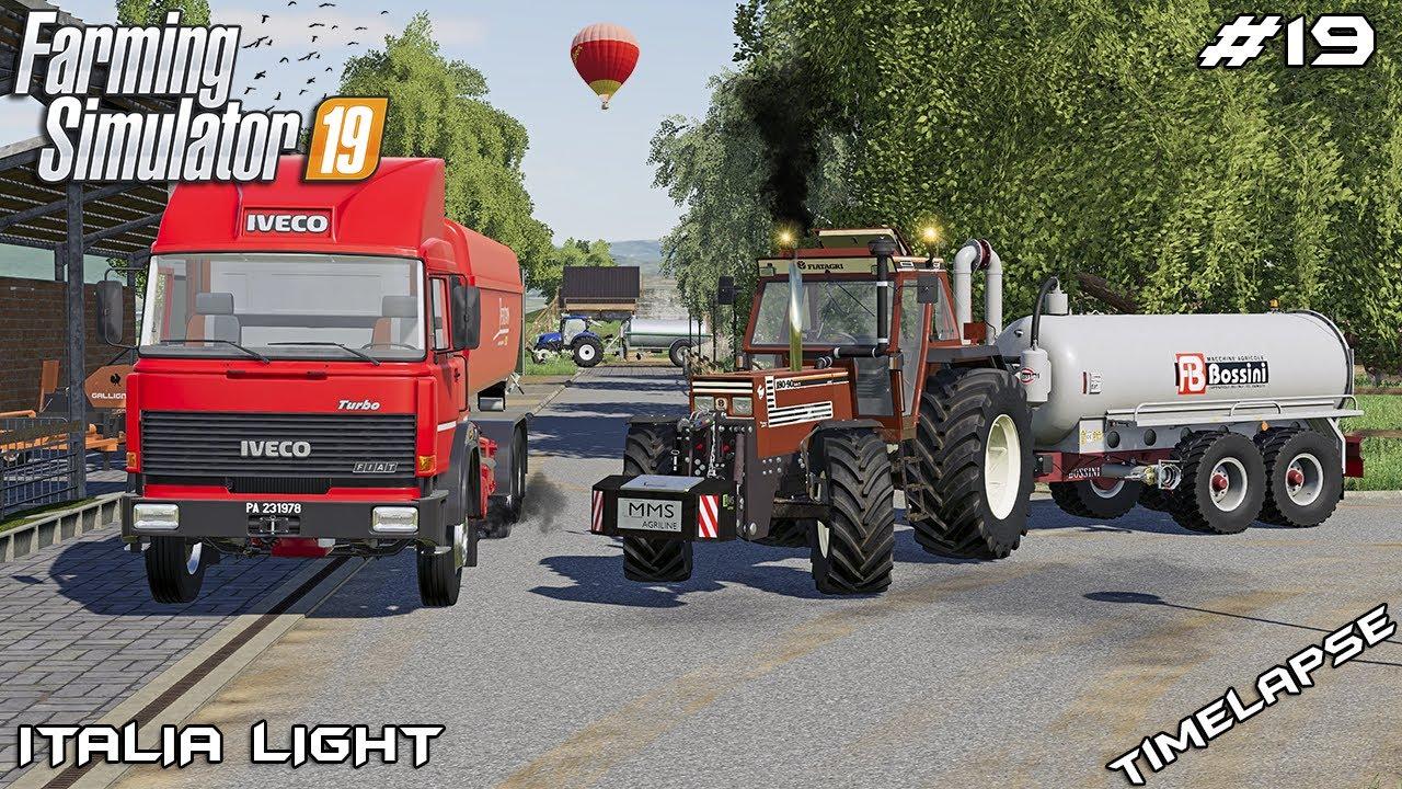 Taking SOIL SAMPLES and spreading SLURRY | Animals on Italia | Farming Simulator 19 | Episode 19
