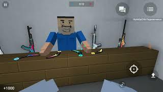 Играю в Блок страйк (охотник, зомби)