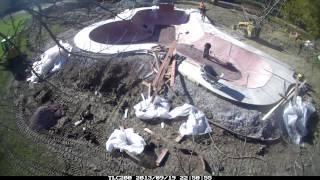 skatepark construction at o b nelson park in fairfield iowa