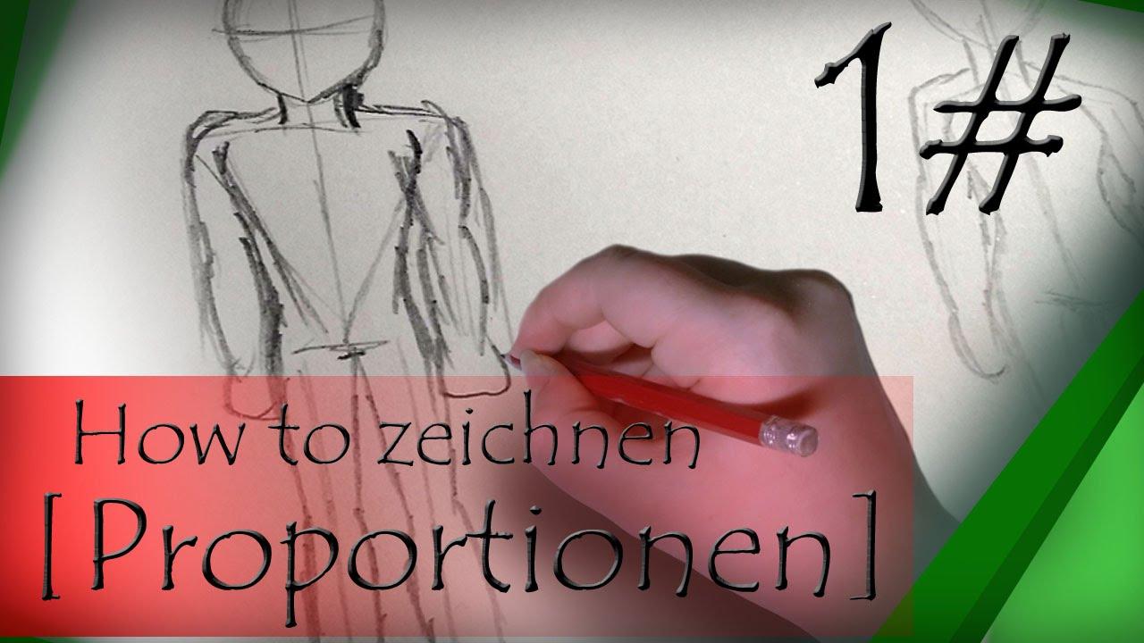 How to zeichnen [Proportionen] - YouTube