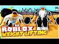 HELPING MY GIRLFRIEND GET BUFF! - WEIGHT LIFTING SIMULATOR 2 ROBLOX