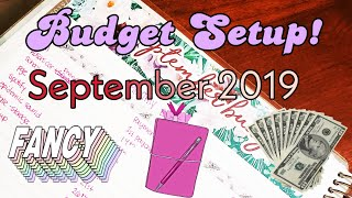 BUDGET WITH ME! | September 2019 BUDGET PLANNER SETUP | Paycheck to Paycheck Budgeting | Dave Ramsay