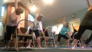 Chair Yoga, standing sequence part one
