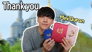 Unboxing gifts from subscribers