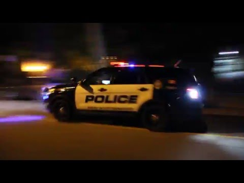 Four Marked Police Explorers Responding