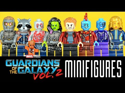 Guardians of the Galaxy Vol. 2 w/ Star-Lord Gamora Groot & Rocket Unofficial LEGO Minifigures