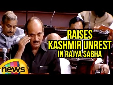 Ghulam Nabi Azad Raises Kashmir Unrest In Rajya Sabha | Parliament Monsoon Session | Mango News