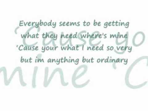 ordinary lyrics by train