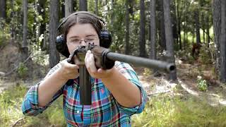 Mae Shoots the Springfield 1903 Air Service Rifle