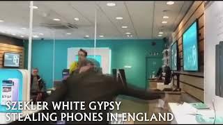 Székely, Szekler White Gypsy Stealing Phones in England