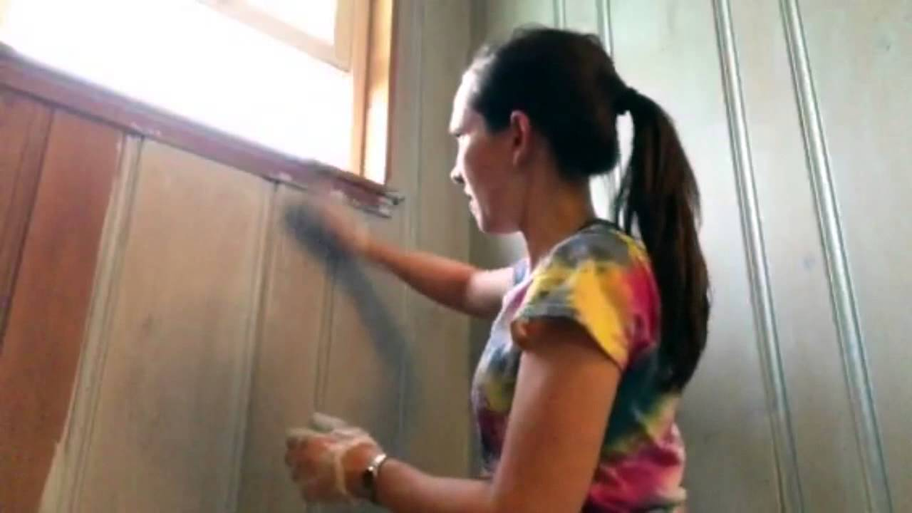 How To Color Wash Knotty Pine Youtube