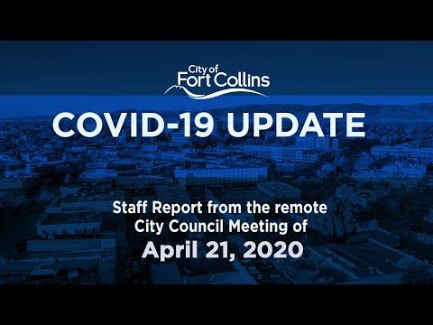 view COVID-19 Update - 4/21/20 video