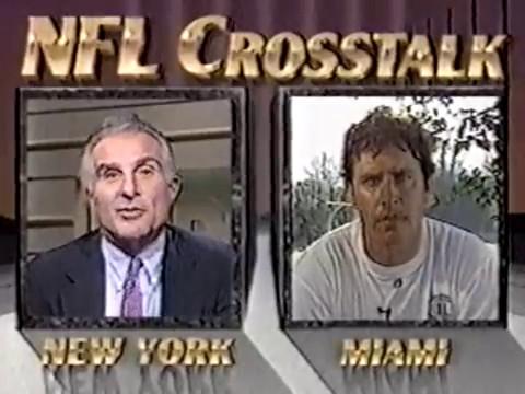 1992 Wk 06 Pregame - Dan Marino of the Miami Dolphins Interviewed By Nick Buoniconti