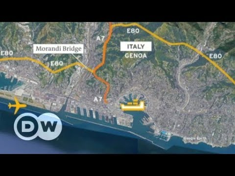 Italy bridge collapse: What does loss of bridge mean for Genoa?   DW on genovia map, corsica map, riga latvia map, naples map, valladolid spain map, le havre france map, christopher columbus, munich germany map, copenhagen denmark map, geneva map, capital of serbia map, genoa flag, amsterdam netherlands map, vienna map, paris france map, nevada hydrologic unit code map, milan map, medieval florence map, marseille france map, stockholm sweden map, cinque terre, italy, acre map,
