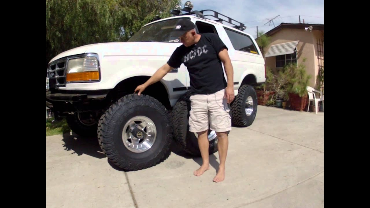 Bronco Wheels And Tires Youtube