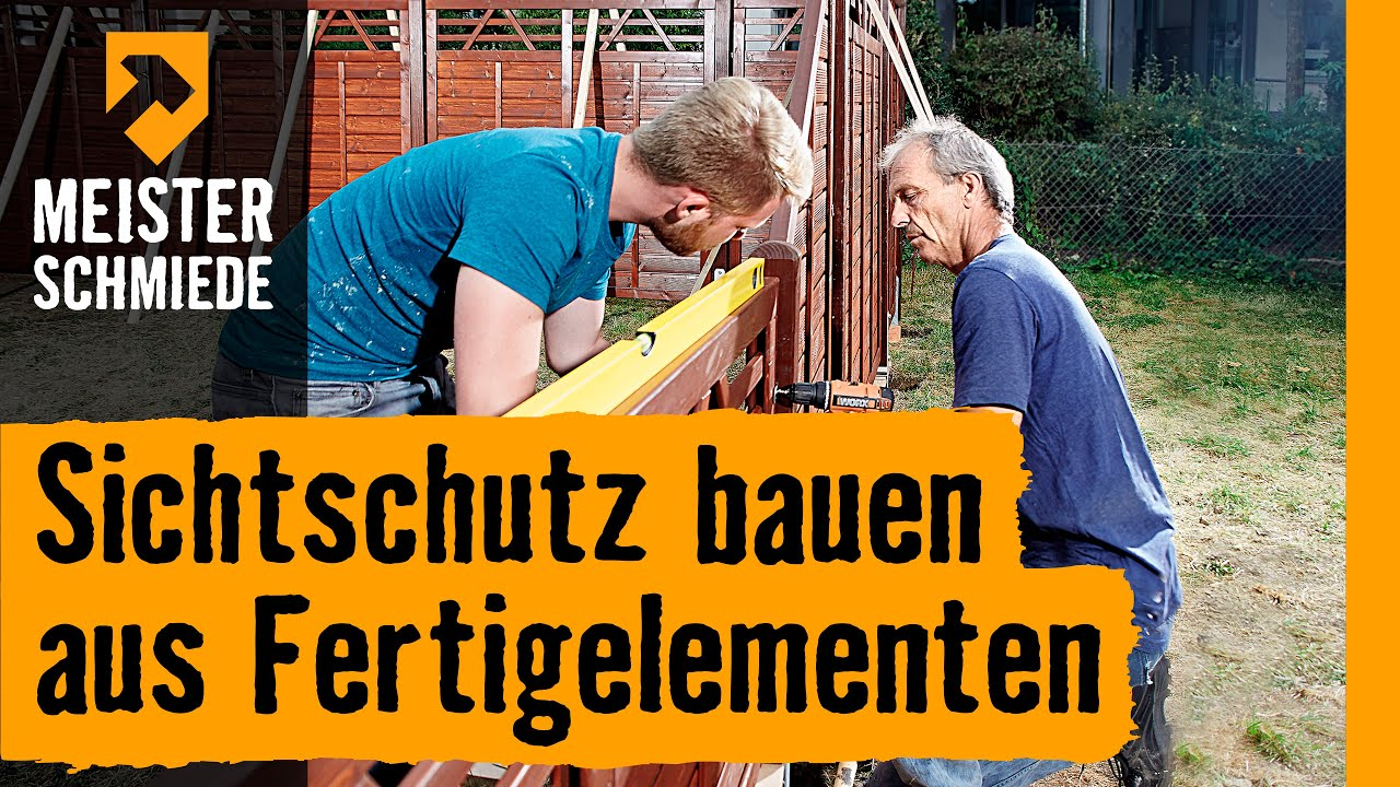Sichtschutz Bauen Aus Fertigelementen Hornbach Meisterschmiede