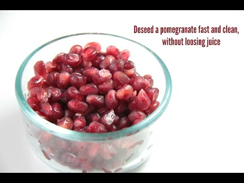 How to deseed a pomegranate fast & clean without loosing juice