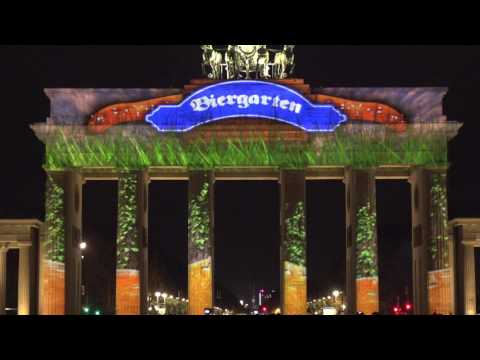 Berlin Festival of Lights 2015 in 4K    Brandenburger Tor